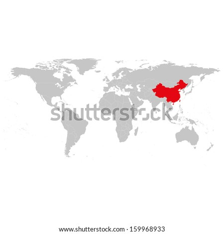 china world map background