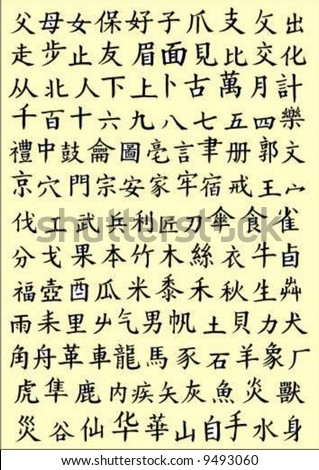vector chinese alphabet