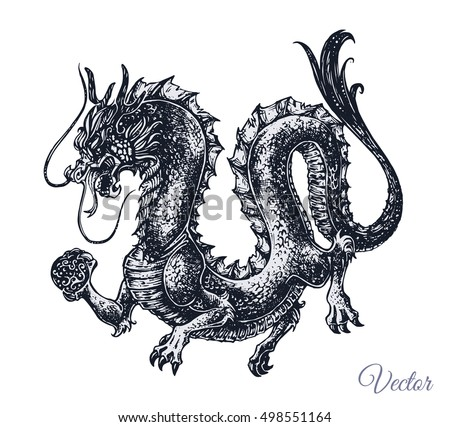 chinese and japanese dragon