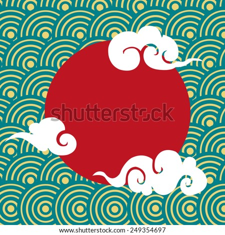 chinese cloud pattern design