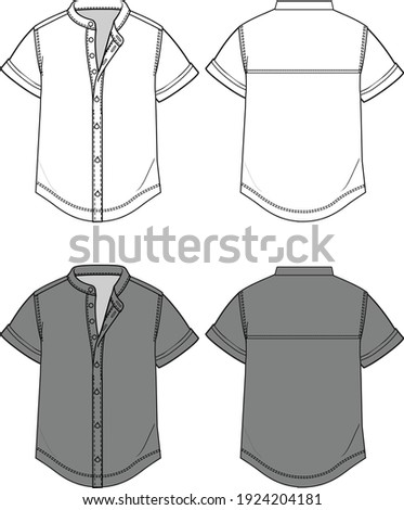Chinese Collar Shirt Fashion Templates Stock foto ©