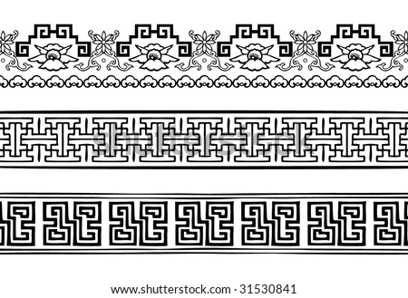 Chinese Decorative Border Vector Chinese Decorative Border
