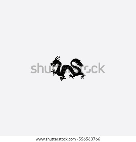 chinese dragon icon silhouette