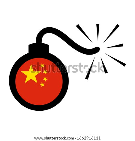 chinese flag in explore bomb