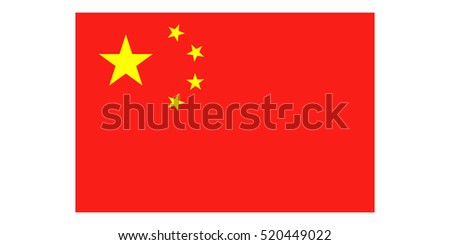 chinese flag vector classic