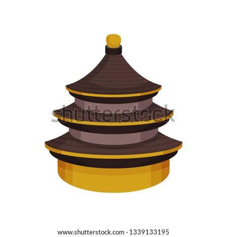 Chinese folk symbolism. East symbols concept. Vector illustration.