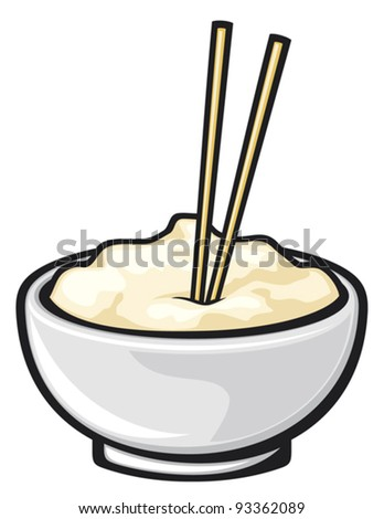 chinese food and chopsticks (white noodle bowl with chopsticks)