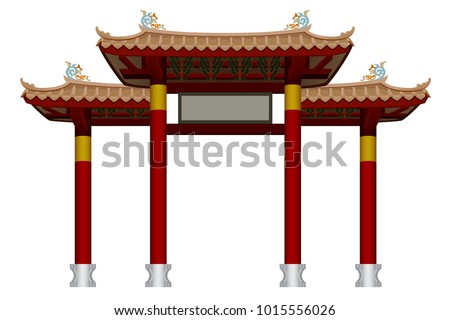chinese gate graphic vector