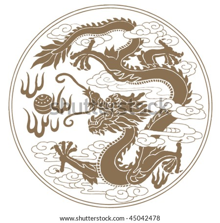 Chinese / Japanese dragon tattoo