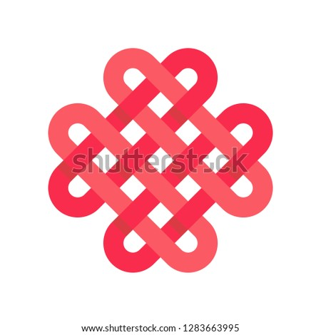 Chinese knotting vector, Chinese New Year related flat design icon