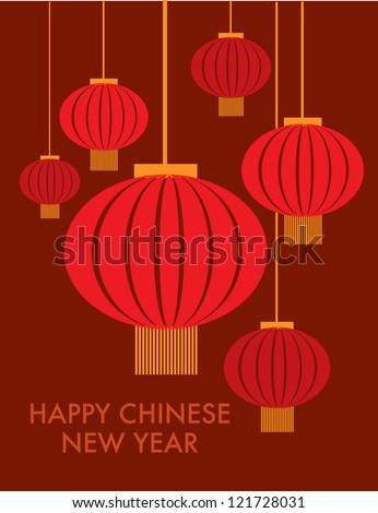 chinese lantern template vector/illustration