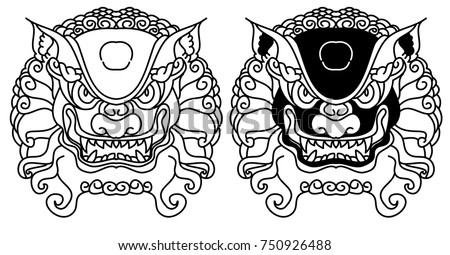 chinese lion traditional style