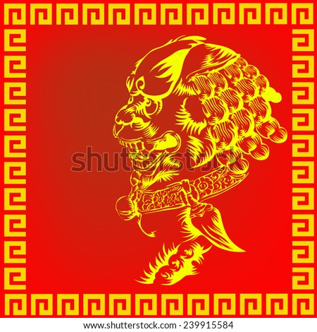 chinese lion vector
