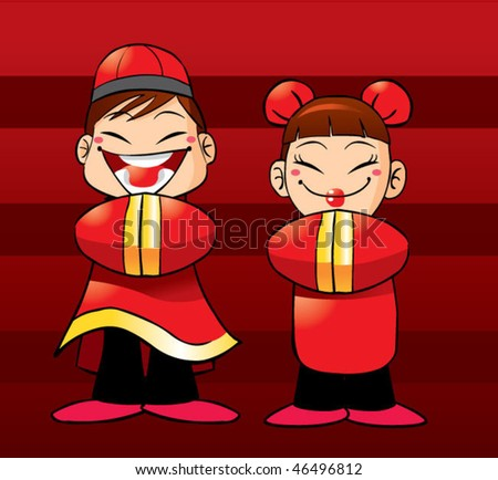 cute cartoon characters coloring pages. CUTE CARTOON CHINESE COUPLE