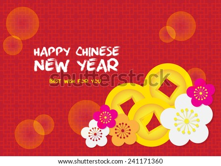 Chinese New Year decoration card background vector