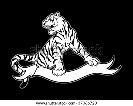 09d5f4b47 tattoo. tiger. tribal. vector. white