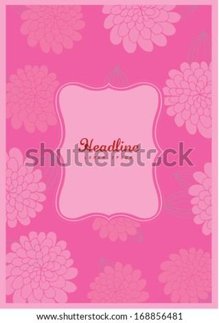 chinese new year peony flower background template vector illustration greeting card