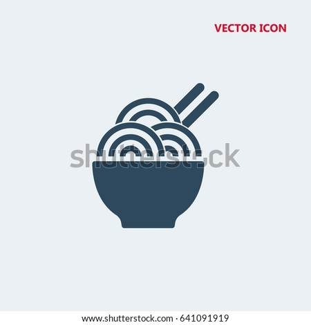 chinese noodles vector icon