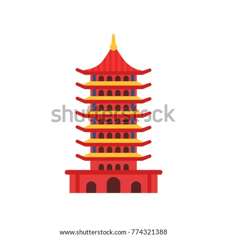 chinese pagoda building