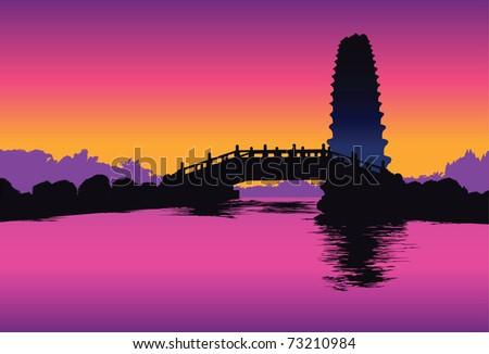 chinese pagoda in xian