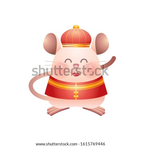 Chinese Rat in Chinese New Year Festival Foto stock ©