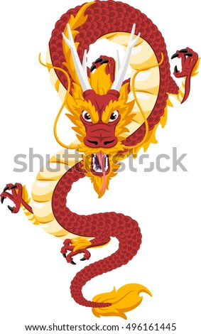 chinese red dragon symbol of