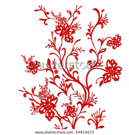 Chinese red paper-cut.