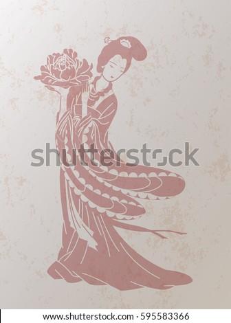 chinese retro style beauty