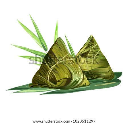 chinese rice dumplings  zongzi