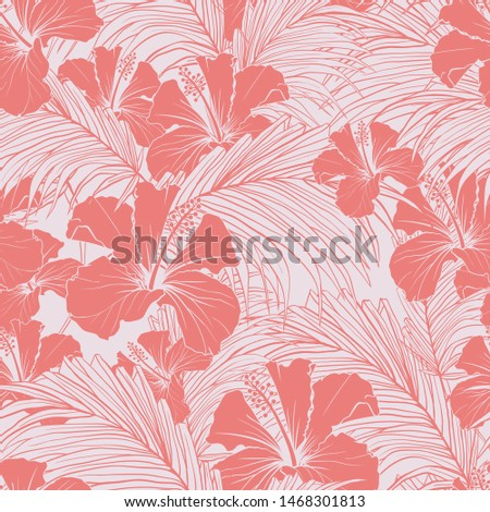 chinese rose vector seamless