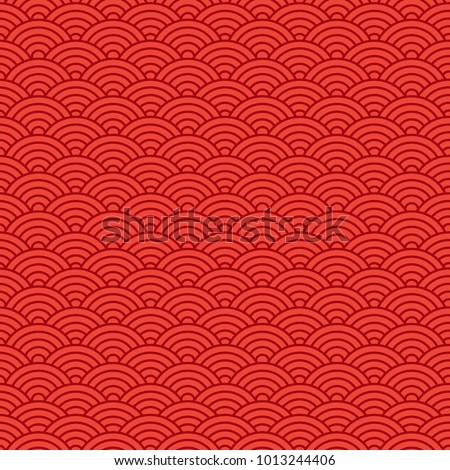 Chinese seamless pattern, oriental background for New Year. Vector illustration