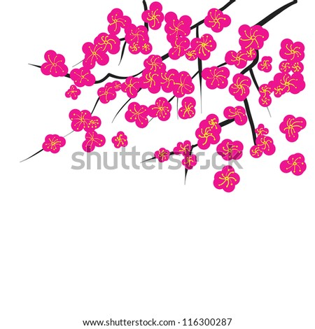 Chinese Flower Vector Chinese Style Flower Drawing