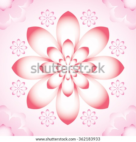Chinese style flower pattern - water lily