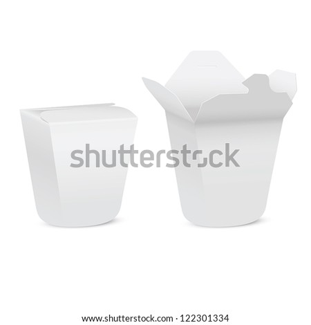 Chinese take-out box isolated on white background