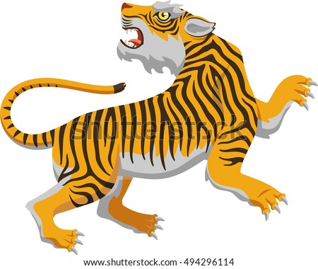 chinese tiger vector cartoon