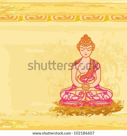Chinese Traditional Artistic Buddhism Pattern