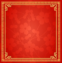 Chinese Traditional Background, Plum Blossom, Flower, Winter, The Great Wall Frame