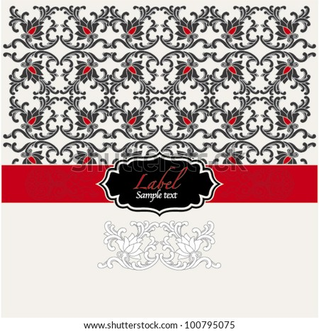 chinese vintage card (black and red)