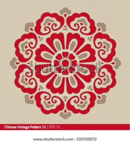 Chinese Flower Pattern Chinese Vintage Pattern