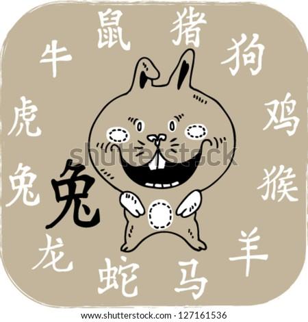 Chinese zodiac animal- rabbit.