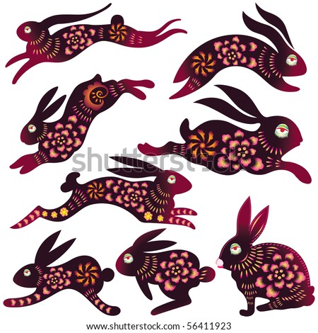 Chinese Zodiac - Rabbit Design (vector)