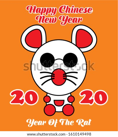 Chinese Zodiac Sign Year of Rat Foto stock ©