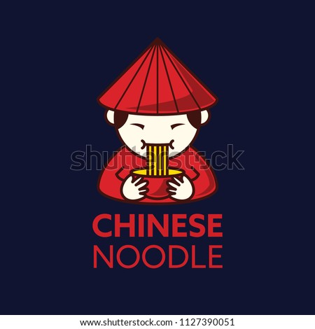 chineses noodles logo templates
