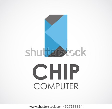 Chip Computer Technology Abstract Vector And Logo Design Or Template Future Digital Business Icon Of Modern