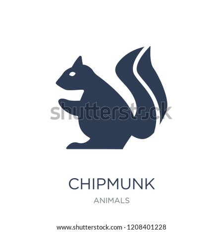 Chipmunk icon. Trendy flat vector Chipmunk icon on white background from animals collection, vector illustration can be use for web and mobile, eps10