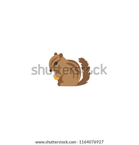 Chipmunk vector flat icon