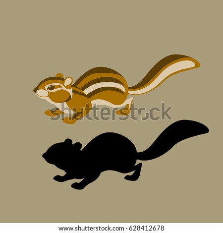 chipmunk  vector illustration