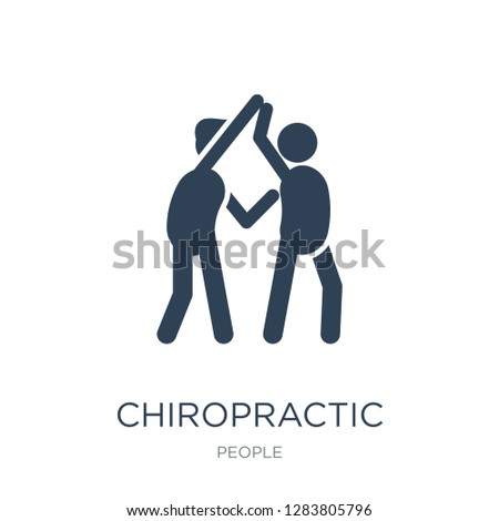 chiropractic icon vector on white background, chiropractic trendy filled icons from People collection, chiropractic vector illustration
