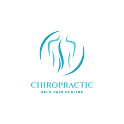 Chiropractic logo design. Spine logo template. Spinal icon. Backbone icon. Physio therapy