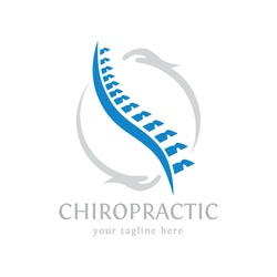 chiropractic logo spine spinal care vector icon illustration